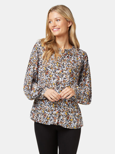 Annie Button Thru Blouse