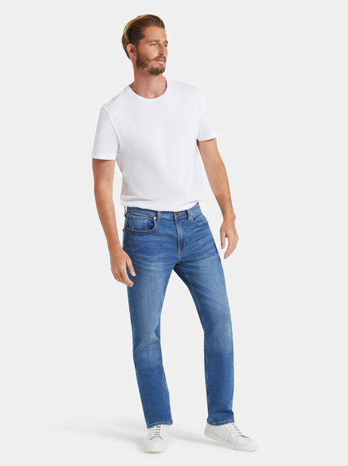 Slim Straight Jeans Light Wash, Light Indigo, hi-res
