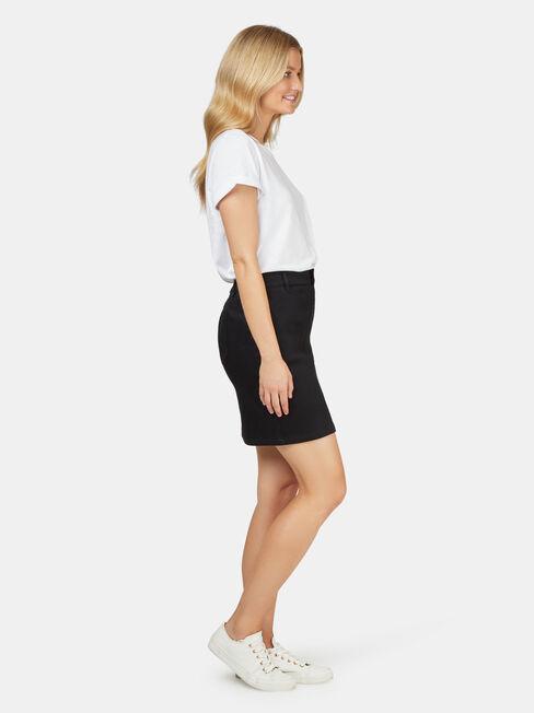 Bella Luxe Lounge Skirt, Black, hi-res