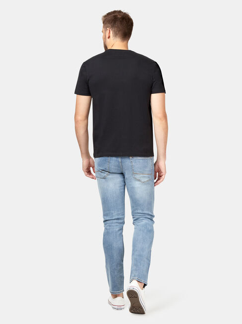 SS Clifton Print Crew Tee, Black, hi-res