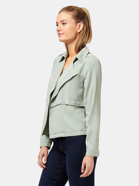 Poppy Short Soft Jacket, Grey, hi-res