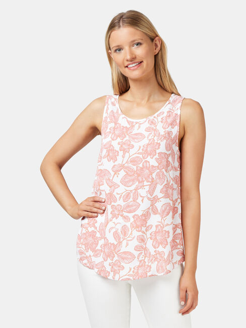 Charlie Button Back Tank
