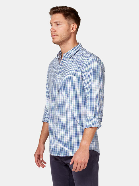 LS Jake Check Shirt, Blue, hi-res