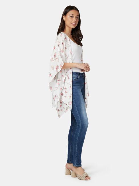 Polly Printed Kimono