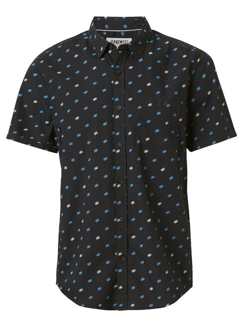 SS Burley Print Shirt, Black, hi-res