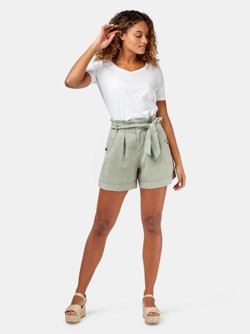 Nova Paperbag Short, Green, hi-res