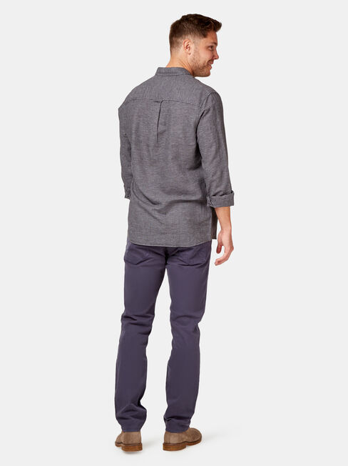 Alec Long Sleeve Textured Shirt, Grey, hi-res