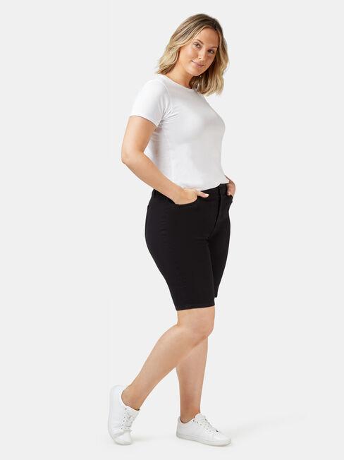 Talia Curve Embracer Knee Length Short, Black, hi-res