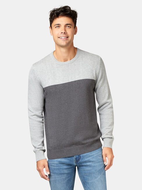 Conrad Block Crew Knit