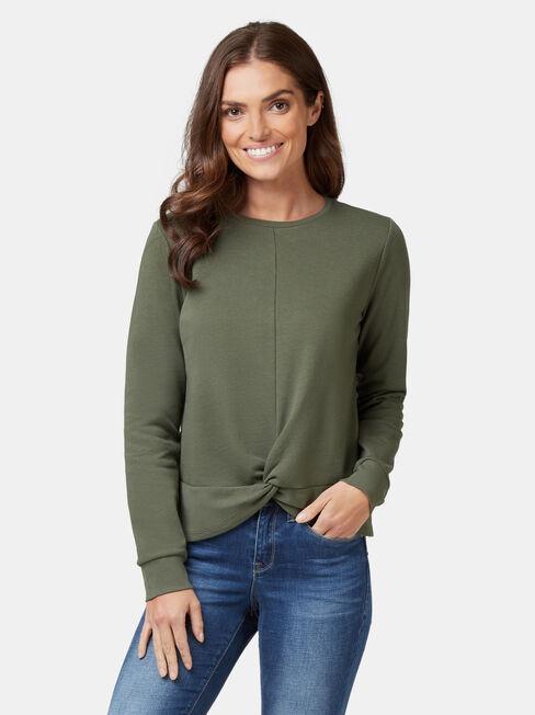 Natasha Twist Front Sweater
