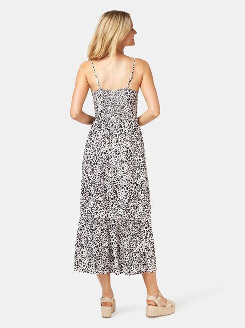 Nova Tiered Cami Dress, Grey, hi-res