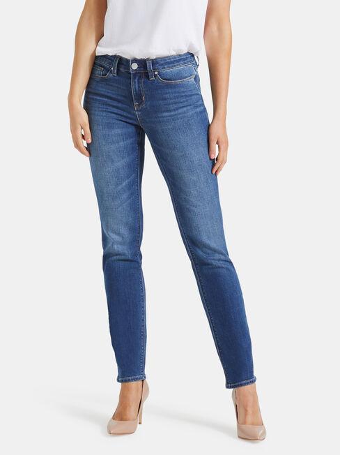Slim Straight Jeans Lake Blue