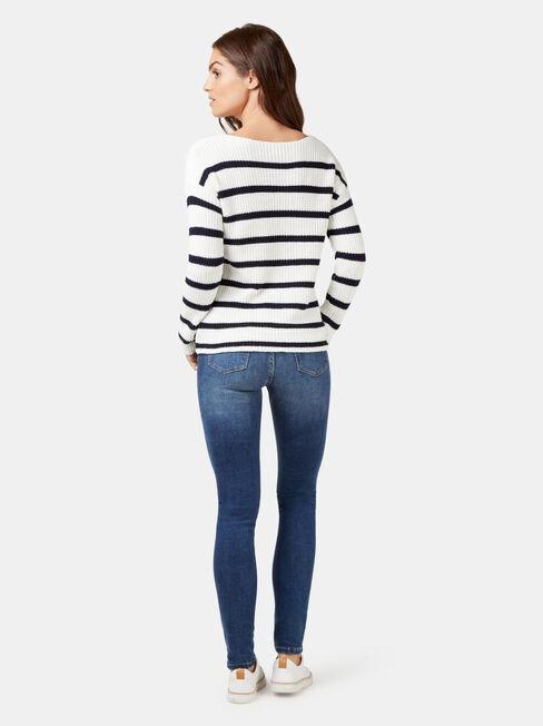 Grace Stripe Knit, Stripe, hi-res