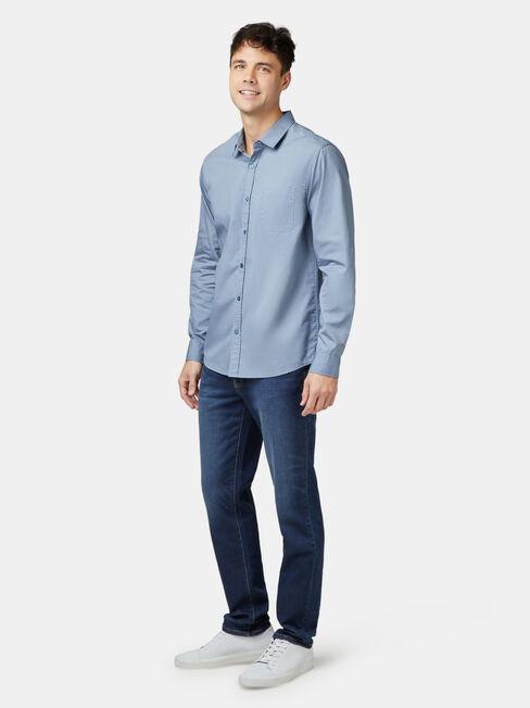 Aiden Long Sleeve Print Shirt, Blue, hi-res