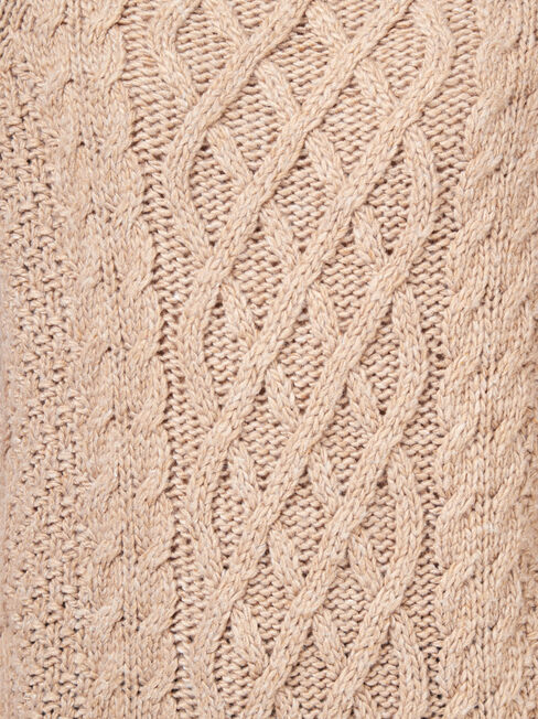April Chunky Cable, Brown, hi-res