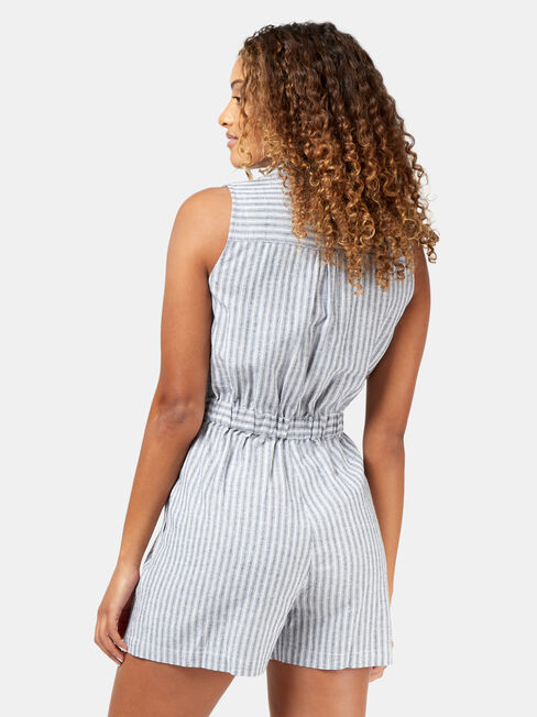 Vivian Sleeveless Playsuit, Stripe, hi-res