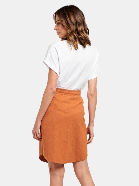 Julie Jersey Slub Skirt, Red, hi-res