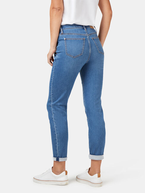 Louisa Slim Boyfriend Jeans Mid Indigo, Mid Indigo, hi-res