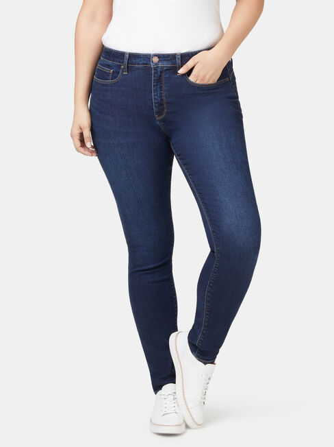 Curve Embracer Butt Lifter Skinny Jeans Dark Vintage