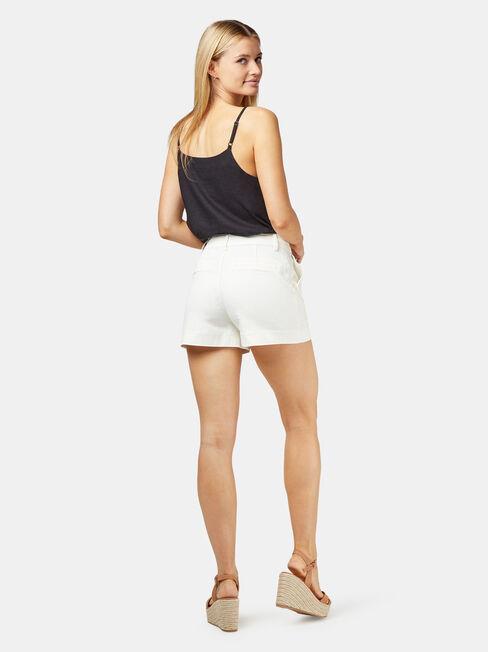 Caroline Studded Short, White, hi-res