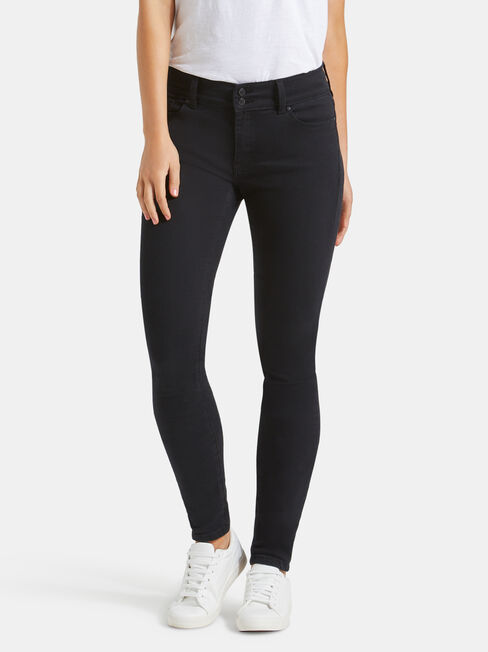 Hip Hugger Skinny Jeans Black Night
