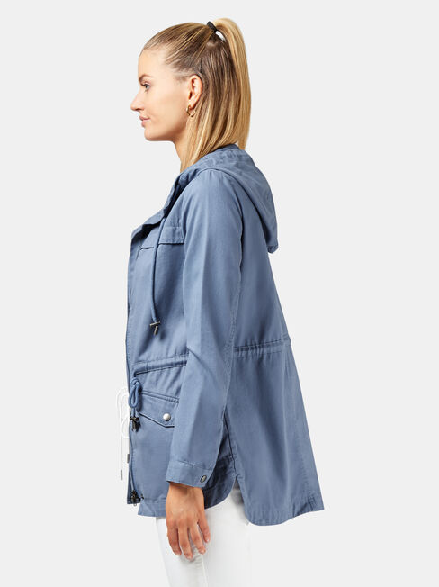 Adele Casual Jacket +, Blue, hi-res
