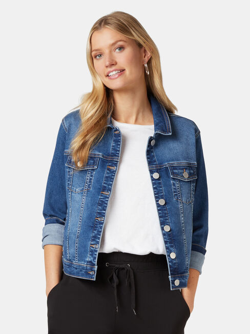 Classic Stretch Denim Jacket