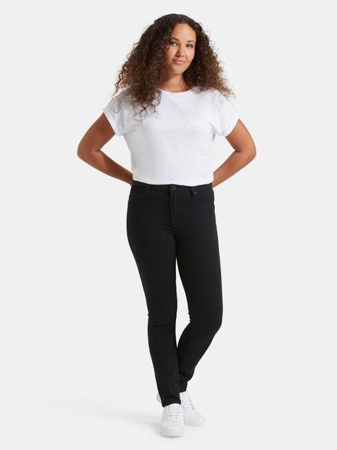 Butt Lifter Skinny Jeans, Black, hi-res