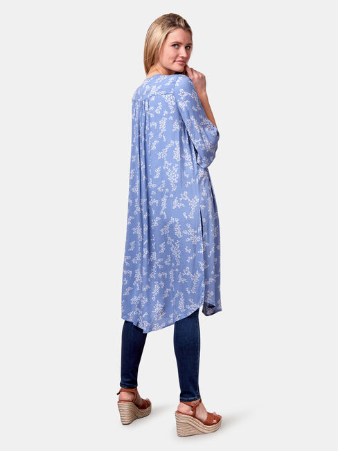Monica Longline Kimono, Blue, hi-res