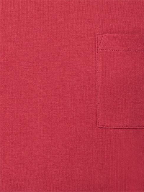 Preston Basic Pocket Tee, Red, hi-res
