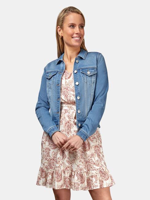 Ellie Luxe Lounge Knit Denim Jacket