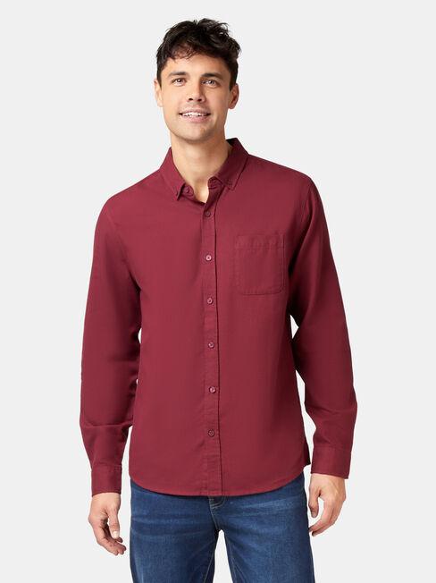 Arbor Long Sleeve Shirt, Red, hi-res