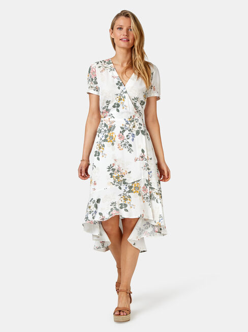 Sadie Concave Dress, White, hi-res