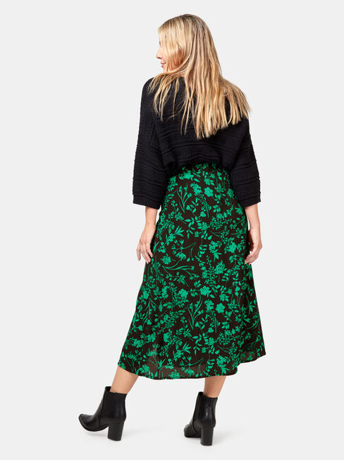 Imogen Midi Skirt, Floral, hi-res