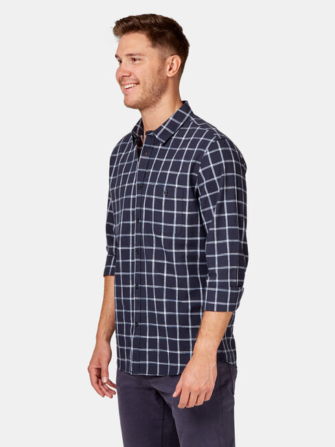 LS Edmund Check Shirt, Blue, hi-res