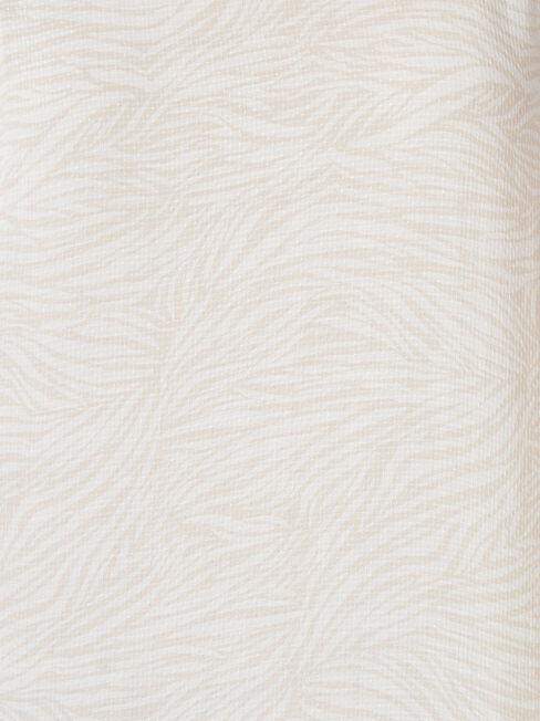 Victoria Flutter Sleeve Top, Stripe, hi-res