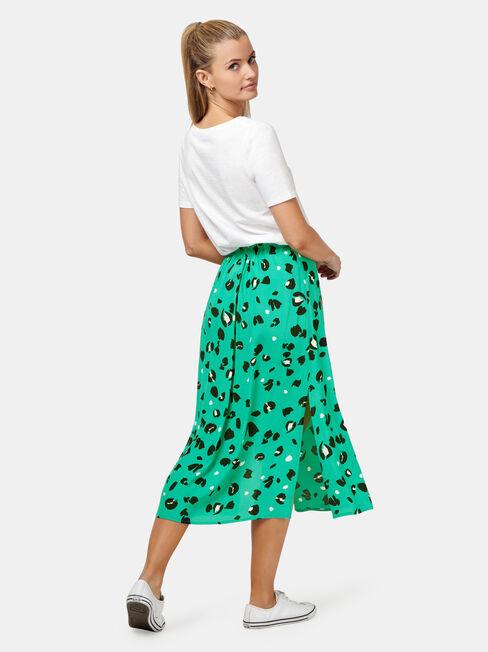 Hallie Skirt, Green, hi-res