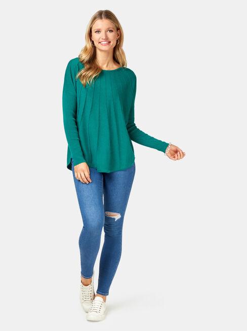 Mia Swing Pullover, Green, hi-res