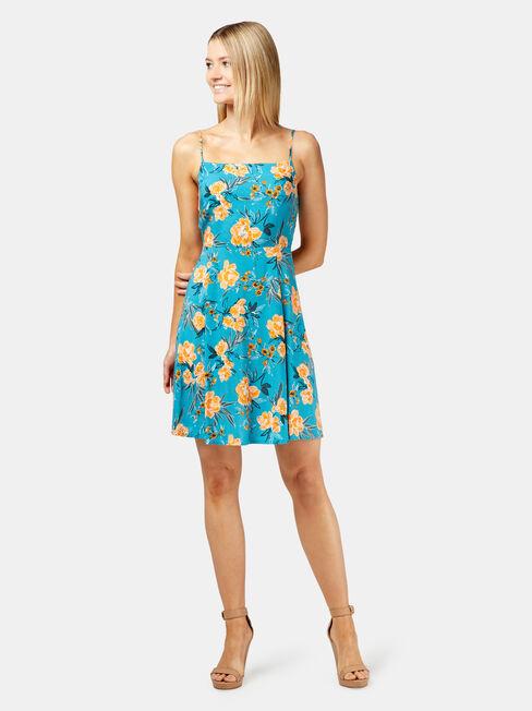 Emmy Printed Sundress, Blue, hi-res