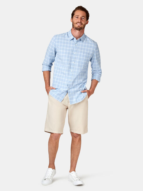 Cooper Long Sleeve Check Shirt, Blue, hi-res