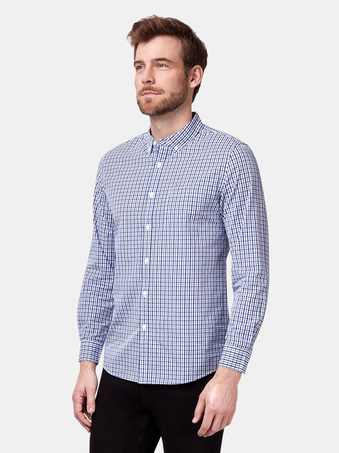 Easton Long Sleeve Check Shirt, Print, hi-res