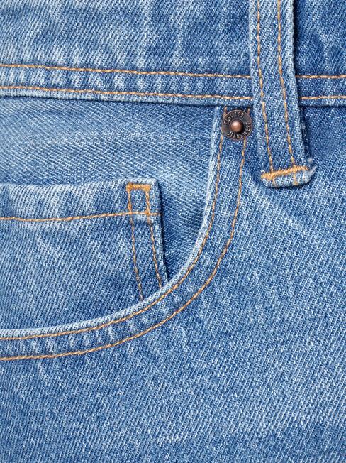 Mono Denim Short, Blue, hi-res