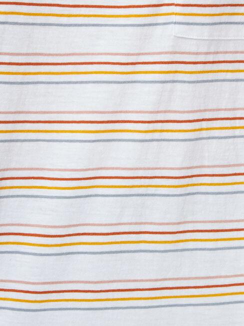 Relaxed Pocket Slub Tee, Stripe, hi-res