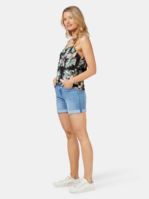Rose Jersey Cami, Floral, hi-res