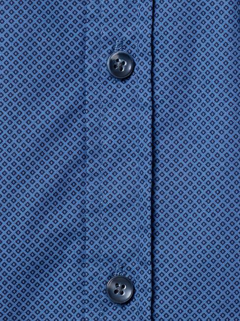 Buster Long Sleeve Print Shirt, Blue, hi-res