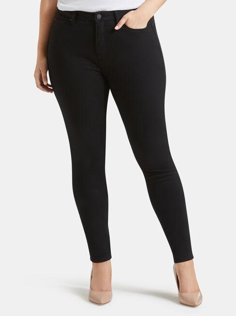 Curve Butt Lifter Skinny Jeans, Black, hi-res