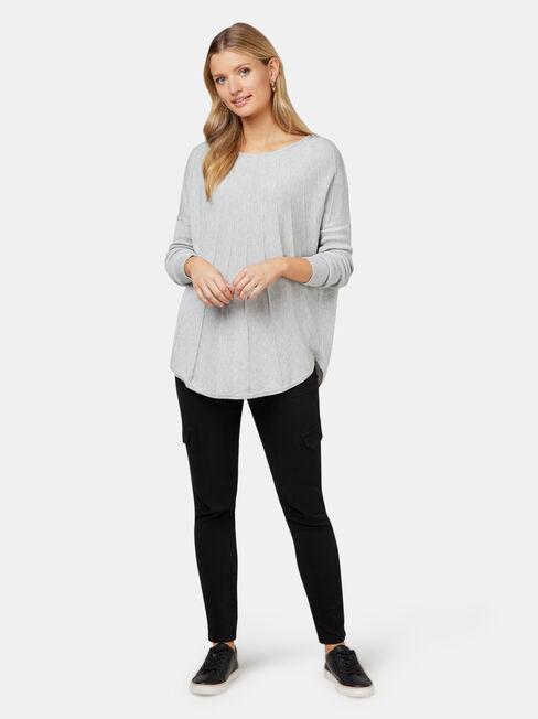 Mia Swing Pullover, Grey, hi-res