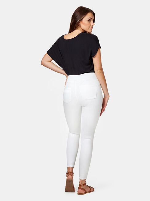 Tummy Trimmer Luxe Lounge Skinny Jeans White, No Wash, hi-res