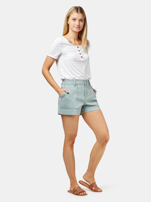 Caroline Studded Short, Grey, hi-res