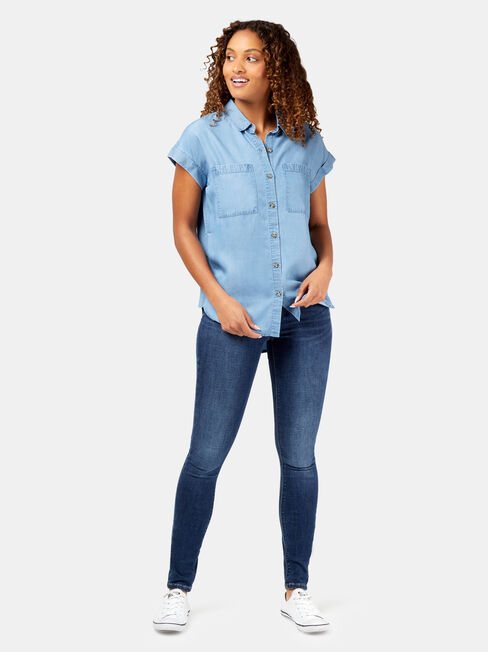 Roxanne Shirt #, Blue, hi-res